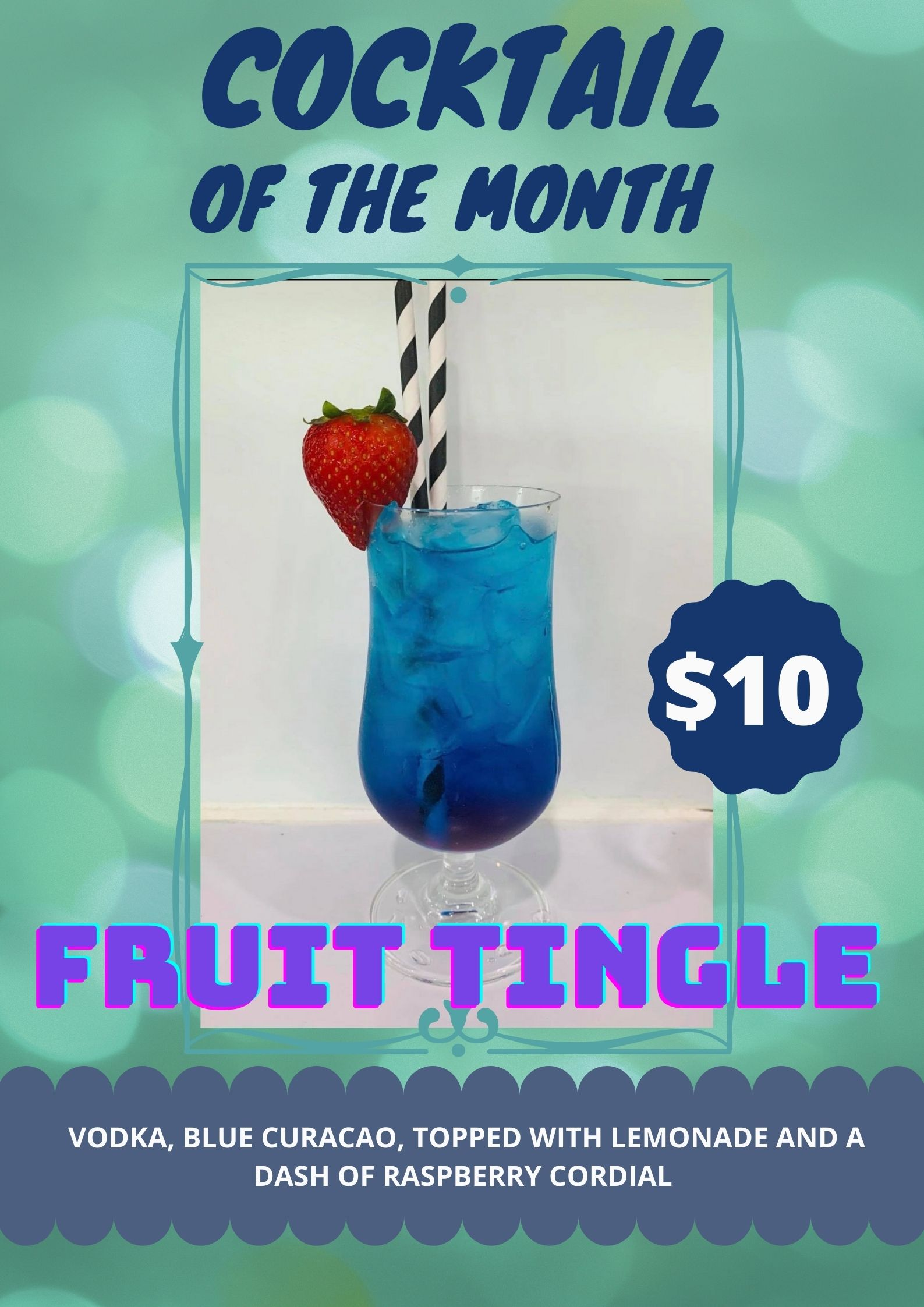 Fruit Tingle cocktail of the month